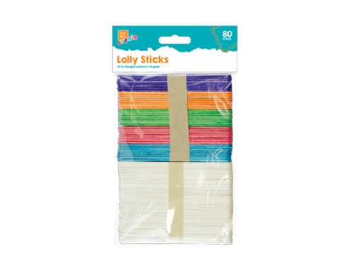 Wooden Lolly Sticks - 80 Pack